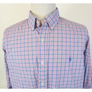 Ralph Lauren XL Stretch Shirt Button Down Checker